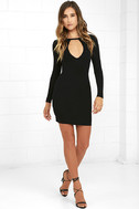 Here to Party Black Long Sleeve Bodycon Dress 2