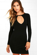 Here to Party Black Long Sleeve Bodycon Dress 3