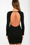 Here to Party Black Long Sleeve Bodycon Dress 4