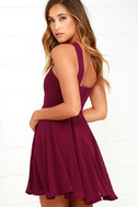 Forevermore Burgundy Skater Dress 3