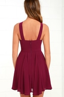 Forevermore Burgundy Skater Dress 4