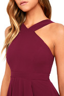 Forevermore Burgundy Skater Dress 5