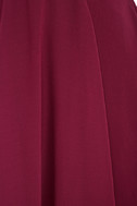 Forevermore Burgundy Skater Dress 6