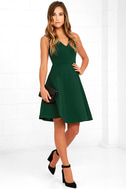Hello World Dark Green Midi Dress 2