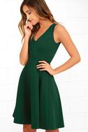 Hello World Dark Green Midi Dress 3