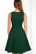 Hello World Dark Green Midi Dress 4