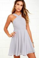 Forevermore Grey Skater Dress 1
