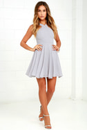 Forevermore Grey Skater Dress 2