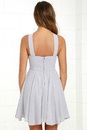 Forevermore Grey Skater Dress 4