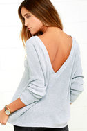 Just For You Light Grey Backless Sweater 1