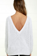 Just For You Light Grey Backless Sweater 4