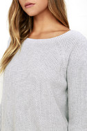 Just For You Light Grey Backless Sweater 5