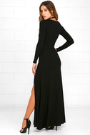 Swept Away Black Long Sleeve Maxi Dress 3