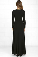 Swept Away Black Long Sleeve Maxi Dress 4