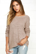 Just For You Light Brown Backless Sweater 3