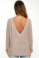 Just For You Light Brown Backless Sweater 4