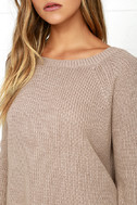 Just For You Light Brown Backless Sweater 5