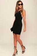 Heart's Content Black Bodycon Dress 2