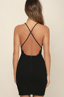 Heart's Content Black Bodycon Dress 4
