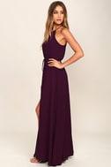 Essence of Style Plum Purple Maxi Dress 2
