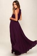 Essence of Style Plum Purple Maxi Dress 3