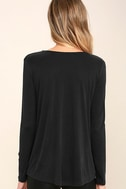 Elegant Breeze Washed Black Long Sleeve Top 4