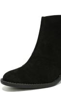 Crisp Air Black Suede Ankle Booties 6