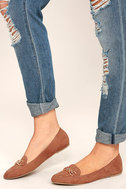 Walk the Walk Taupe Suede Loafer Flats 1
