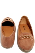 Walk the Walk Taupe Suede Loafer Flats 3