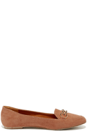 Walk the Walk Taupe Suede Loafer Flats 4