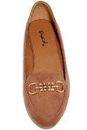 Walk the Walk Taupe Suede Loafer Flats 6