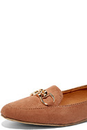 Walk the Walk Taupe Suede Loafer Flats 7