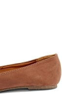 Walk the Walk Taupe Suede Loafer Flats 8