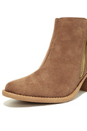 Crisp Air Taupe Suede Ankle Booties 6