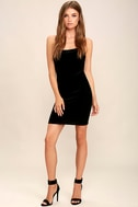 Sultry Summoning Black Velvet Bodycon Dress 2