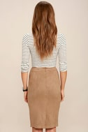 Superpower Tan Suede Pencil Skirt 3