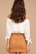 Simply Perf Tan Suede Mini Skirt 3
