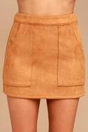Simply Perf Tan Suede Mini Skirt 4