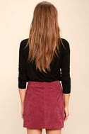 Made with Moxie Wine Red Corduroy Mini Skirt 3