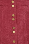 Made with Moxie Wine Red Corduroy Mini Skirt 6