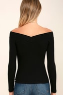 Feeling Free Black Off-the-Shoulder Top 4
