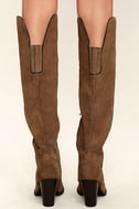 Mia Nigel Taupe Suede Leather Knee High Boots 4