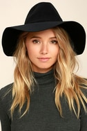 Wishing on a Star Black Fedora Hat 1
