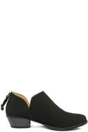 Stands Apart Black Nubuck Ankle Booties 4
