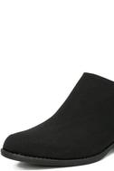 Stands Apart Black Nubuck Ankle Booties 6