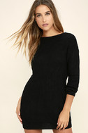 Bringing Sexy Back Black Backless Sweater Dress 3