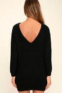 Bringing Sexy Back Black Backless Sweater Dress 4