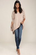Ticket to Cozy Blush Pink Oversized Sweater 2
