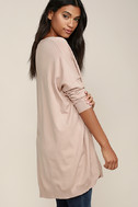 Ticket to Cozy Blush Pink Oversized Sweater 3