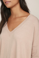 Ticket to Cozy Blush Pink Oversized Sweater 5